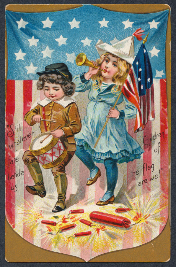 """1910 postcard -Raphael Tuck & Sons """" Independence Day"""" series, no.109"""