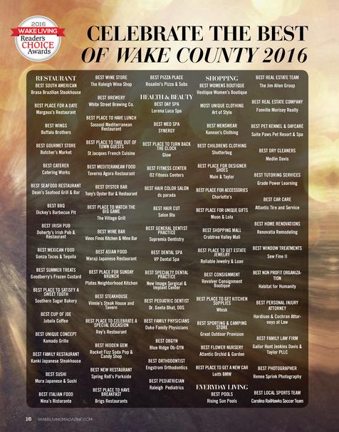 Wake Living Best of 2016 -Rosalini's Pizza