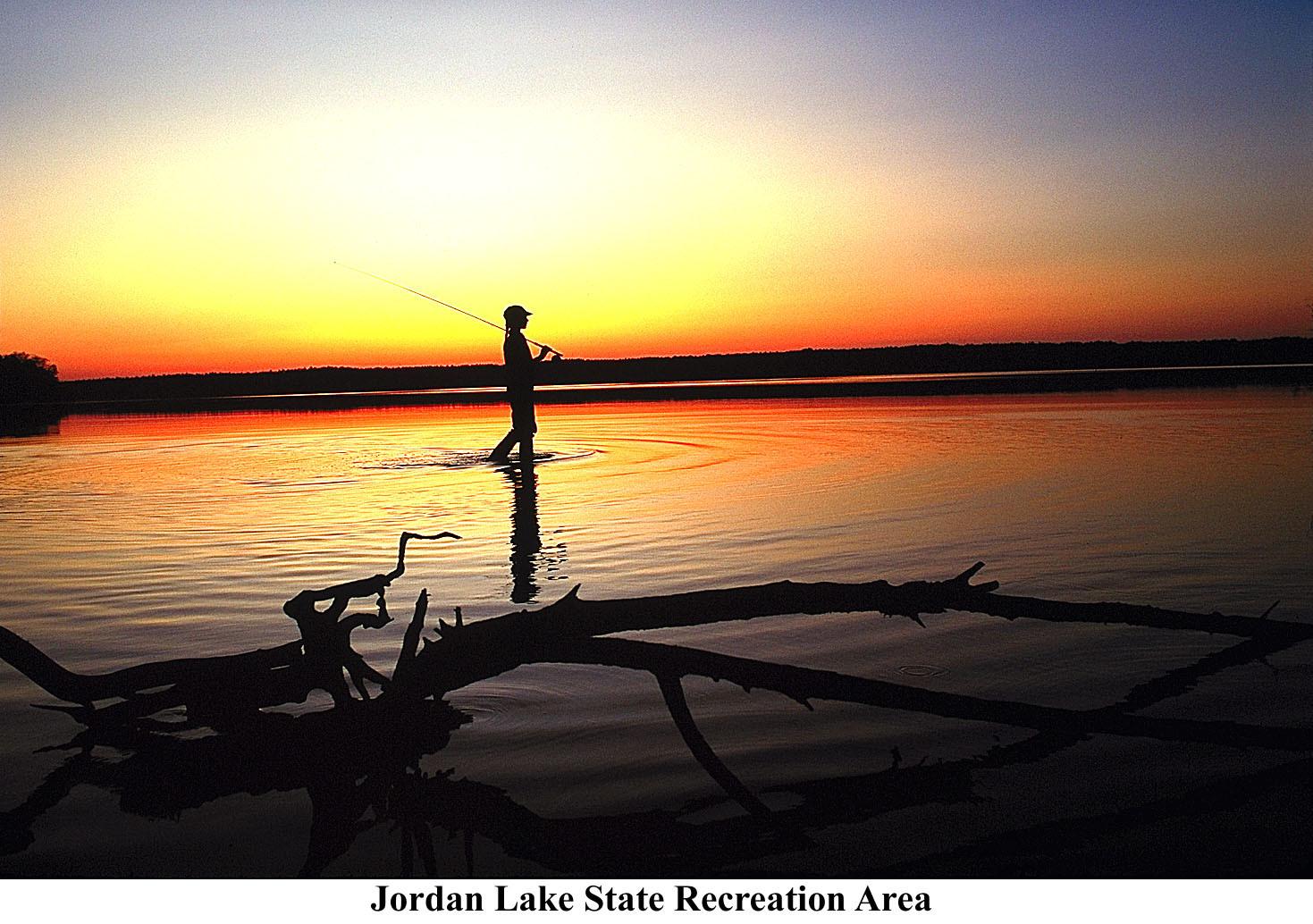 Fishing at Jordan Lake State Recreation Area